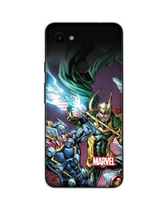 Loki Fighting Avengers Google Pixel 3a Skin