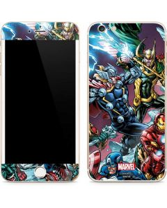 Loki Fighting Avengers iPhone 6/6s Plus Skin