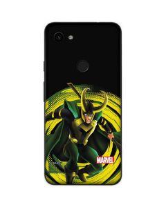 Loki Glowing Eyes Google Pixel 3a Skin