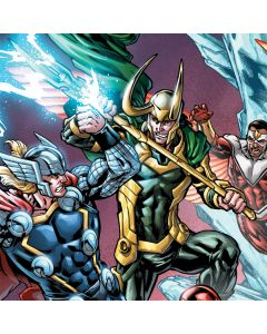 Loki Fighting Avengers Playstation 3 & PS3 Slim Skin