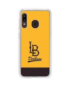Long Beach Yellow Galaxy A20 Clear Case