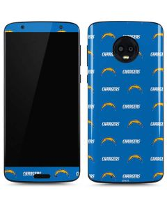 Los Angeles Chargers Blitz Series Moto G6 Skin
