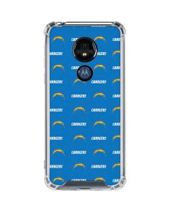Los Angeles Chargers Blitz Series Moto G7 Power Clear Case