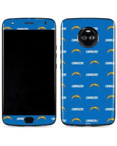 Los Angeles Chargers Blitz Series Moto X4 Skin