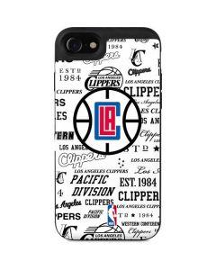Los Angeles Clippers Blast Logos iPhone SE Wallet Case