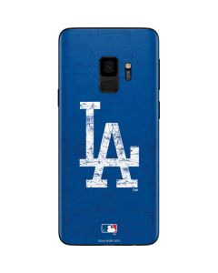 Los Angeles Dodgers - Solid Distressed Galaxy S9 Skin