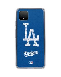 Los Angeles Dodgers - Solid Distressed Google Pixel 4 Clear Case