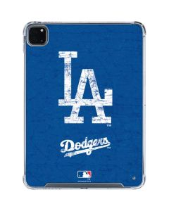 Los Angeles Dodgers - Solid Distressed iPad Pro 11in (2020) Clear Case