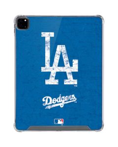 Los Angeles Dodgers - Solid Distressed iPad Pro 12.9in (2020) Clear Case