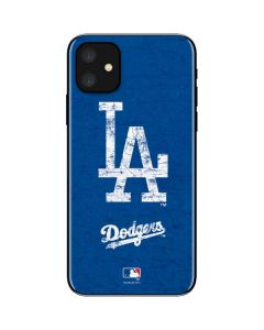 Los Angeles Dodgers - Solid Distressed iPhone 11 Skin