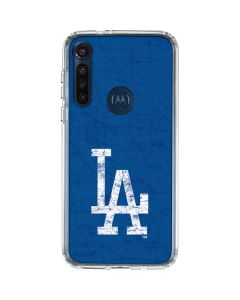 Los Angeles Dodgers - Solid Distressed Moto G8 Power Clear Case