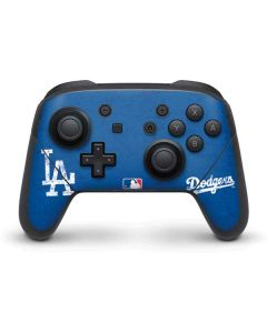 Los Angeles Dodgers - Solid Distressed Nintendo Switch Pro Controller Skin