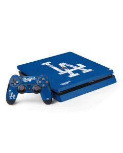 Los Angeles Dodgers - Solid Distressed PS4 Slim Bundle Skin