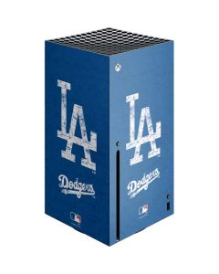 Los Angeles Dodgers - Solid Distressed Xbox Series X Console Skin