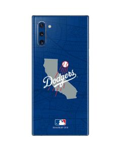 Los Angeles Dodgers Home Turf Galaxy Note 10 Skin