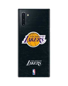 Los Angeles Lakers Black Primary Logo Galaxy Note 10 Skin
