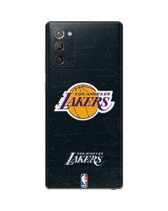 Los Angeles Lakers Black Primary Logo Galaxy Note20 5G Skin