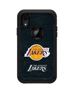 Los Angeles Lakers Black Primary Logo Otterbox Defender iPhone Skin