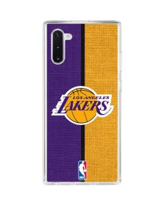 Los Angeles Lakers Canvas Galaxy Note 10 Clear Case