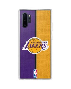Los Angeles Lakers Canvas Galaxy Note 10 Plus Clear Case