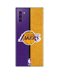 Los Angeles Lakers Canvas Galaxy Note 10 Skin