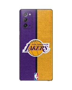 Los Angeles Lakers Canvas Galaxy Note20 5G Skin