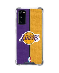 Los Angeles Lakers Canvas Galaxy S20 FE Clear Case