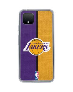 Los Angeles Lakers Canvas Google Pixel 4 XL Clear Case