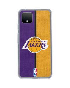 Los Angeles Lakers Canvas Google Pixel 4 XL Clear Case