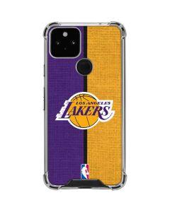 Los Angeles Lakers Canvas Google Pixel 5 Clear Case