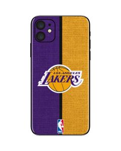 Los Angeles Lakers Canvas iPhone 11 Skin
