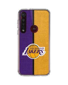 Los Angeles Lakers Canvas Moto G8 Plus Clear Case