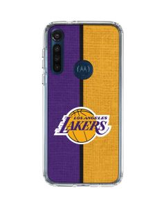 Los Angeles Lakers Canvas Moto G8 Power Clear Case