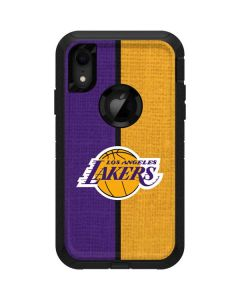 Los Angeles Lakers Canvas Otterbox Defender iPhone Skin