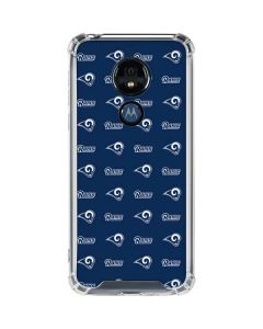 Los Angeles Rams Blitz Series Moto G7 Power Clear Case