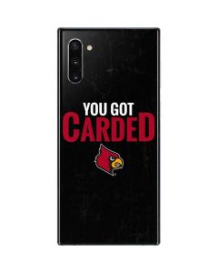 Louisville You Got Carded Galaxy Note 10 Skin