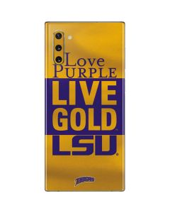 Love Purple Live Gold LSU Galaxy Note 10 Skin