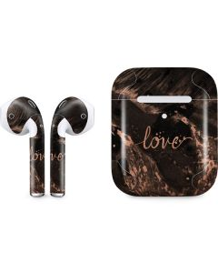 Love Rose Gold Black Apple AirPods 2 Skin