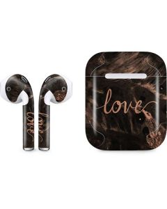 Love Rose Gold Black Apple AirPods Skin