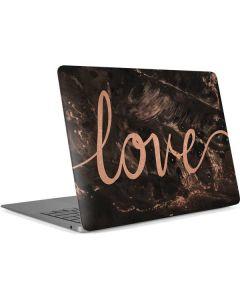 Love Rose Gold Black Apple MacBook Air Skin