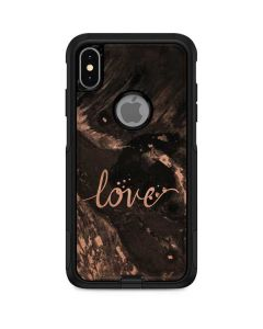 Love Rose Gold Black Otterbox Commuter iPhone Skin