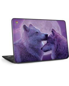 Loving Wolves HP Chromebook Skin