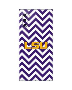 LSU Chevron Print Galaxy Note 10 Skin