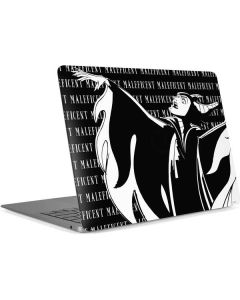 Maleficent Black and White Apple MacBook Air Skin