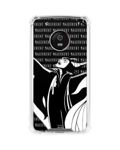 Maleficent Black and White Moto G5 Plus Clear Case