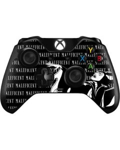 Maleficent Black and White Xbox One Controller Skin