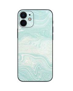 Marbleized Mint iPhone 12 Mini Skin