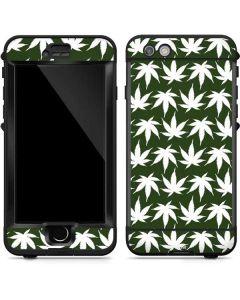 Marijuana Leaf White Pattern LifeProof Nuud iPhone Skin