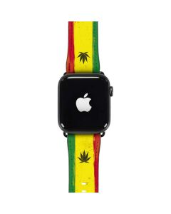 Marijuana Rasta Distressed Apple Watch Case