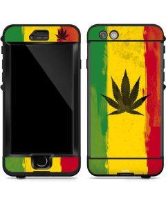Marijuana Rasta Distressed LifeProof Nuud iPhone Skin